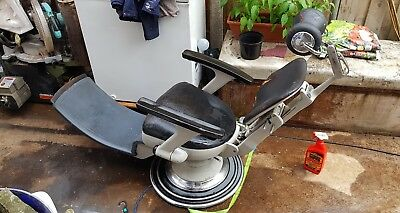 Sterling Sapphire Vintage Dentist Chair 1950s Tattoo Barbers Chair