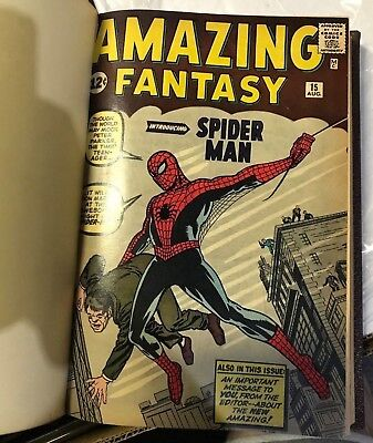 Amazing Fantasy #15 & Amazing Spider-Man #1 to 10 Stan Lee Signed Book NR MINT