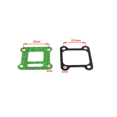 2*Intake Manifold Pipe Gaskets For 40-6 Lawn Mower Engine Parts