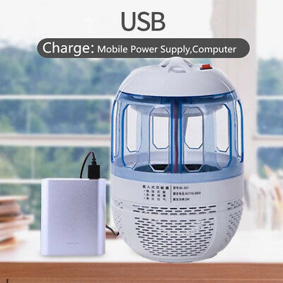 USB Electric LED Light Mosquito Killer Fly Bug Insect Zapper Trap Catcher Lamps