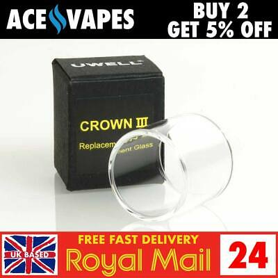 OFFICIAL UWELL Crown 3 Replacement Straight Pyrex Glass Piece