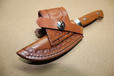 Custom Duel Cross Draw Leather Sheath for a Small Size Knife Left or Right Hand