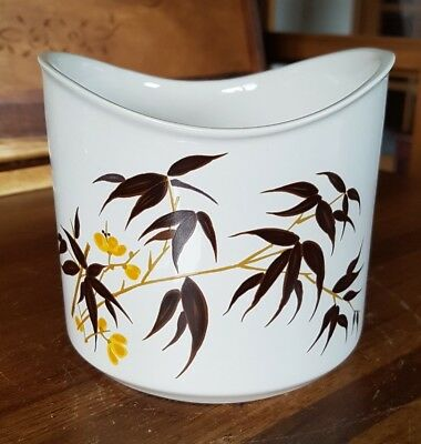 Aviemore Pottery Plant Pot Planter - Cream Yellow Brown - Floral Japanese