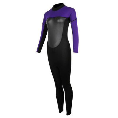 Women Neoprene Long Sleeve Full Warm Wetsuit for Diving, Surfing, Swimming