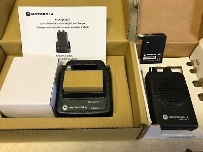 Motorola Minitor V Uhf 462-469 Mhz Dual Non-Stored Voice Pager A04Kms7239Bc