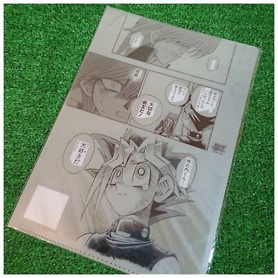 Event Only!! Jump 50th Exhibition Yu-Gi-Oh! A4 Genga Clear File Folder / Manga