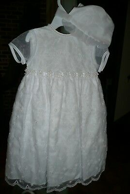 Christening Baptism Baby Girl Gown 9-12 month Absolutely Gorgeous