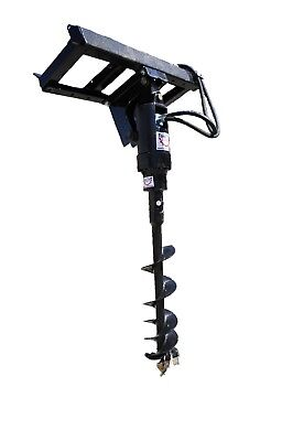 Tool-Tuff Earth Ogre 420 Hydraulic Post Hole Digger for Skid Steer, 1 Auger Comb