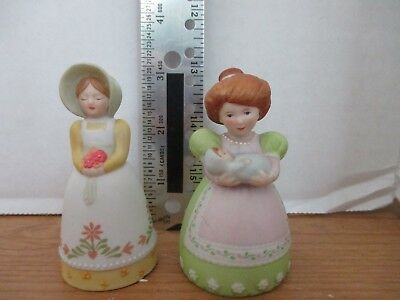 AVON~Lot of 2 MAIDEN / MOTHER with BABY PORCELAIN BELLS