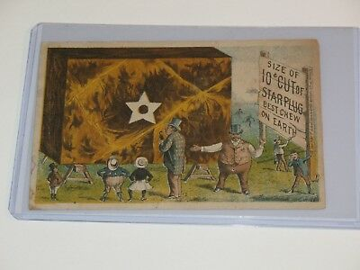 1870s-80s STARPLUG CHEWING TOBACCO 10cent size TRADE CARD, LIGGETT & MYERS