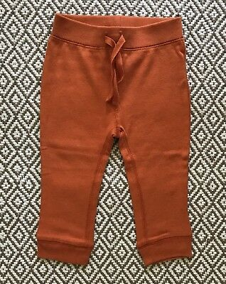 Old Navy cotton leggings - 12-18m - bright orange cotton - gently used!