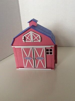 Mini Pink Breyer Horses Barn Playset