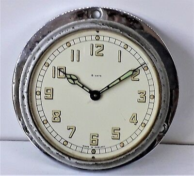 Vintage Smiths 8 Day Small Ships Clock, Working order