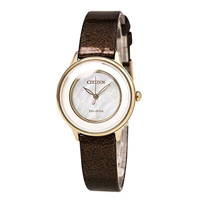 Citizen Eco-Drive Ladies Gold-Tone Mother-of-Pearl Watch
