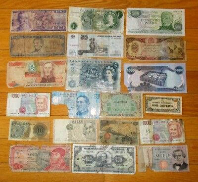 20 pieces of JUNK banknotes around the world