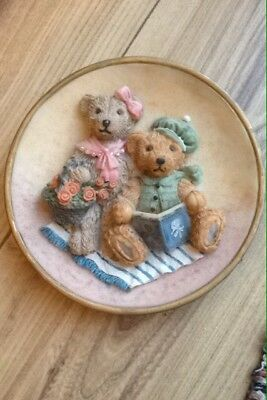 "Teddy bear wall plaques - ""House of Valentina"" - perfect for children's bedroom"
