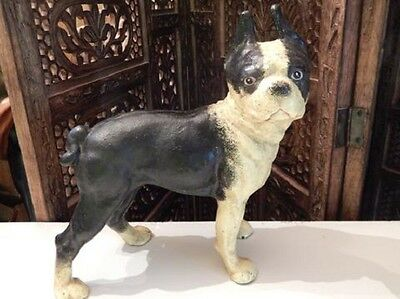 Doorstop Boston Terrier That All Famous Exact Copy In Cast Iron