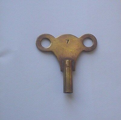 Antique Brass Clock Key Number 7