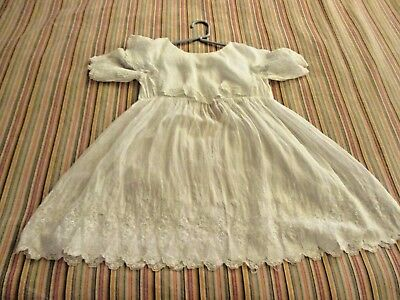 Antique Edwardian Baby toddler Dress White Baptism gown Christening outfit