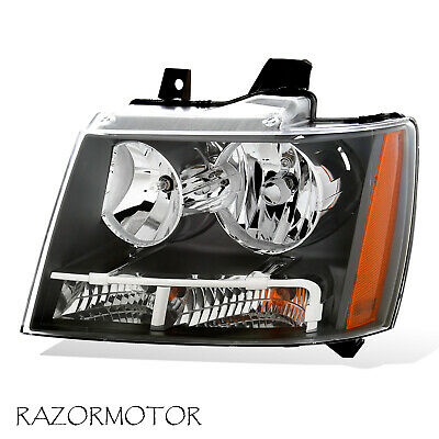 2007-2014 Left Replacement Headlight For Chevy Suburban/Tahoe/Avalanche W/ Bulb