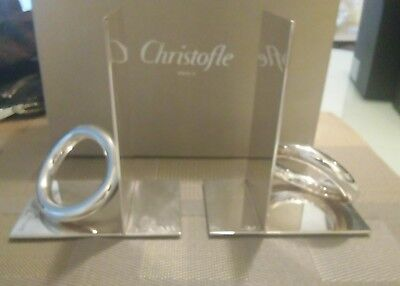 Christofle Silver Plated Vertigo Book Ends