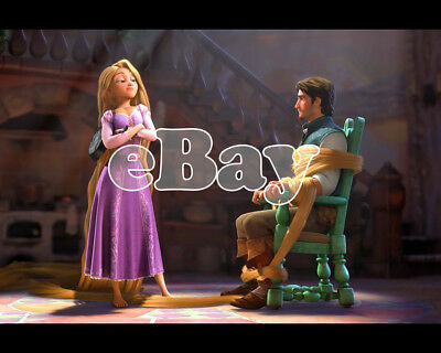 Rare! WALT DISNEY'S TANGLED Cartoon Color 8 X 10 Photo RAPUNZEL & FLYNN