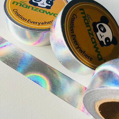 Washi Tape Silver Foil Holographic 15Mm X 10Mtr Planner Craft Wrap Mail Art
