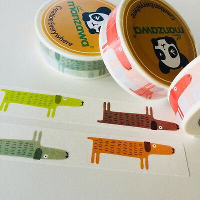 Washi Tape Hound Dog 15Mm X 10Mtr Planner Wrap Mail Art Craft Scrap