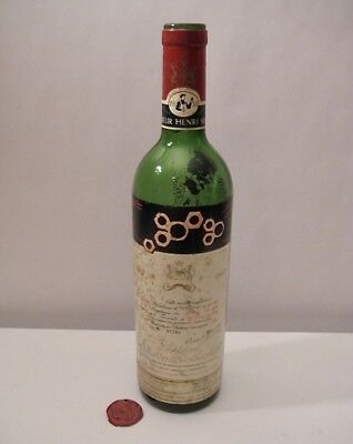 1967 Chateau Mouton Rothschild Empty Wine Bottle Excellent Vintage French