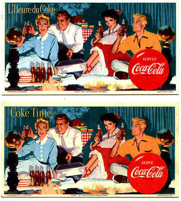 Coca-Cola Pair of Canadian Blotter (French and English)