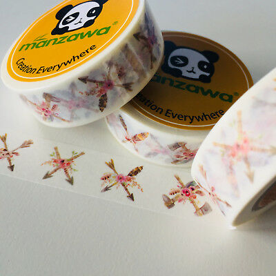 Washi Tape Arrows Axes & Floral 15Mm X 10Mtr Planner Wrap Mail Art Craft Scrap