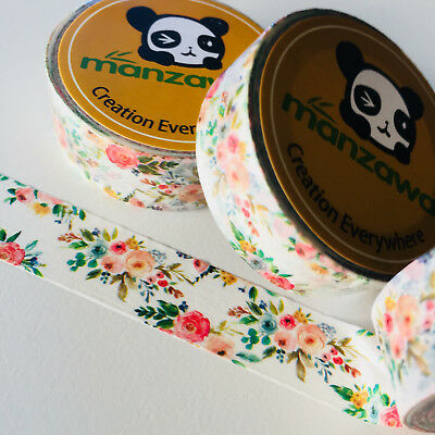 Washi Tape Calico Floral 15Mm X 10Mtr Planner Wrap Mail Art Craft Scrap