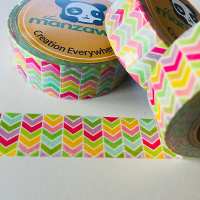 Washi Tape Party Chevron 15Mm X 10Mtr Planner Wrap Mail Art Craft Scrap