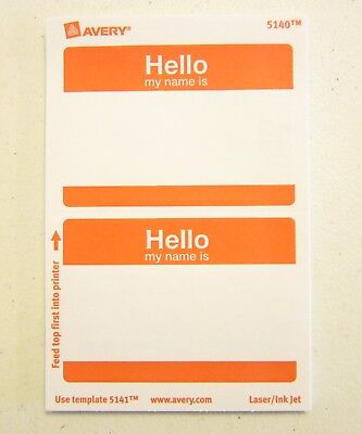 100 avery dennison red hello my name is name tags labels badges