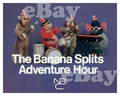 Rare! BANANA SPLITS ADVENTURE HOUR Cartoon Color Photo HANNA BARBERA Studios NBC