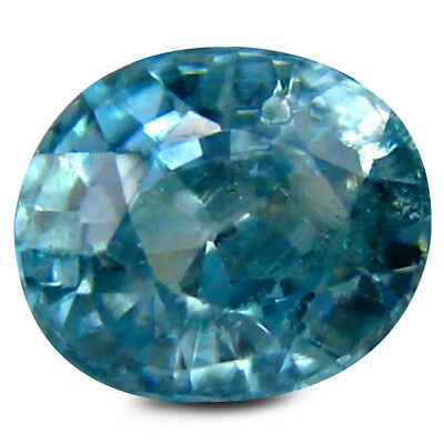 1.82 ct Superb Oval Shape (7 x 6 mm) Cambodia Blue Blue Zircon  Natural Gemstone
