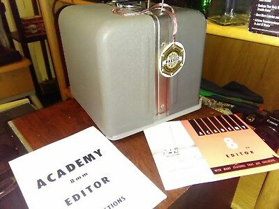 ***New in Box*** Academy 8mm Movie Film Editor w/Instructions & Original QC Tag
