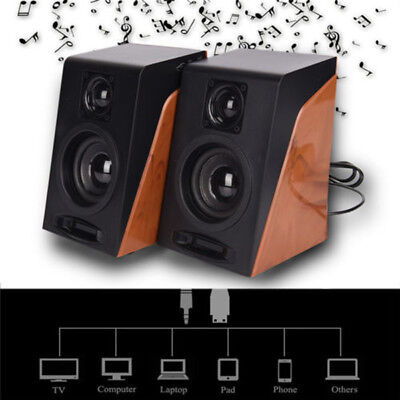 Laptop Subwoofer Tv Usb Speakers Pro Pc Desktop Computer Restoring Audio 3.5mm