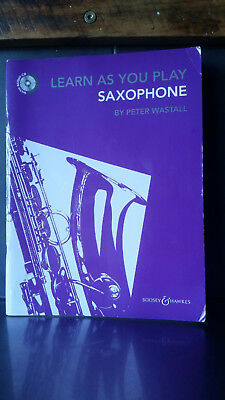 Book Learn As You Play Saxophone by Peter Wastall
