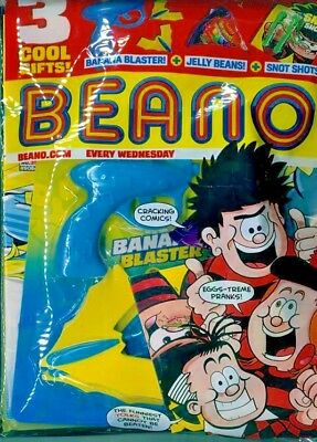 BEANO COMIC MAGAZINE 31st MARCH 2018 IN SEALED PACK WITH 3 GIFTS ~ NEW ~