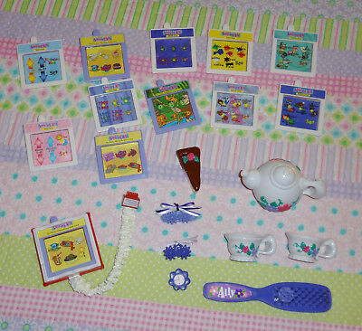 Amazing Ally Accessories Activity Cards, Watch Top, Hair Clip, Teapot Cups Brush