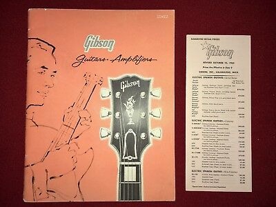 Gibson Guitars Catalog and Pricelist Brochure- Original -1962