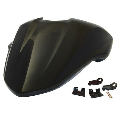 Passenger Rear Pillion Seat Cover Cowl Black For DUCATI Monster 821 1200 1200S
