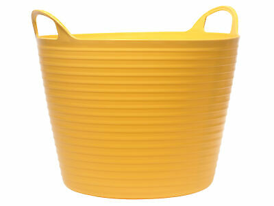 Faithfull Heavy-Duty Polyethylene Flex Tub 60 Litres Yellow FAIFLEX60Y