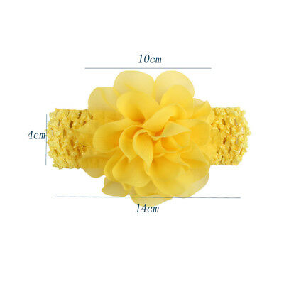4Pcs/Set Kids Baby Chiffon Headband Infant Toddler Elastic Photo Props  Flower