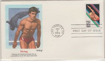 UNITED STATES 1983-4 OLYMPIC FDI Cover Diving
