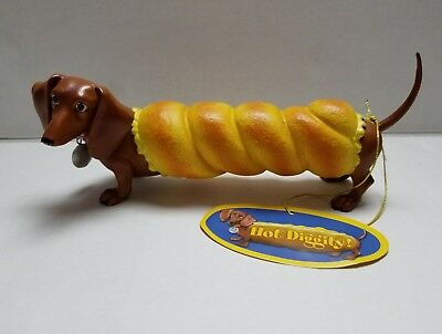 "Hot Diggity ""Bagel Dog"" Dachund Collectible Figurine by Westland- NIB"