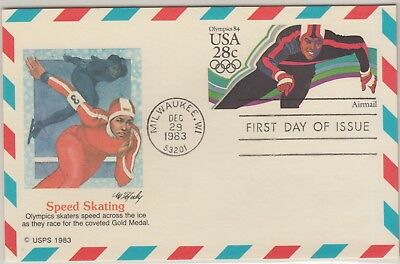 UNITED STATES 1983-4 OLYMPIC FDI Cover Speed Skating