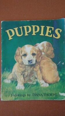 Antique Children's books very old/ PUPPIES is the title.