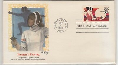 UNITED STATES 1983-4 OLYMPIC FDI Cover Fencing